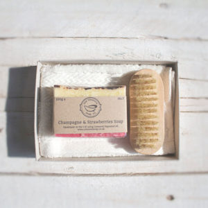 Champagne & Strawberries Soap Gift Set