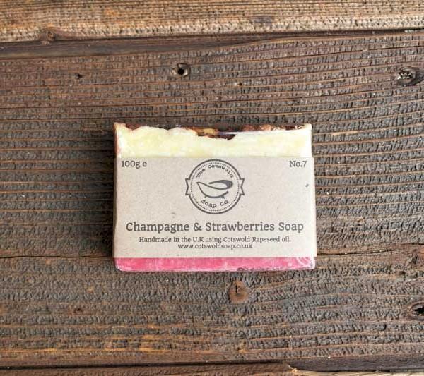 Champagne & Strawberries Soap Gift Set