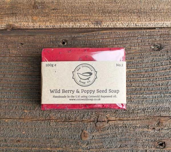 Wild Berry & Poppy Seed Soap